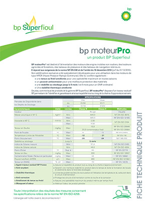 Fiche descriptive bp moteurPro